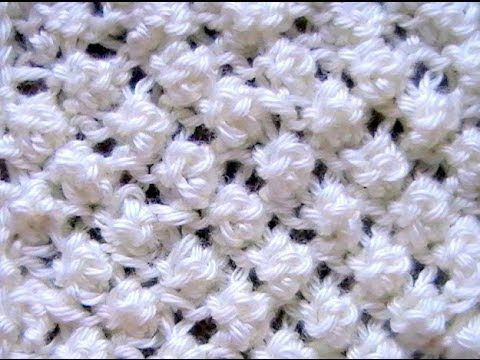 Como Tejer Punto Garbanzo Popcorn Stitch 2 agujas (12) - YouTube