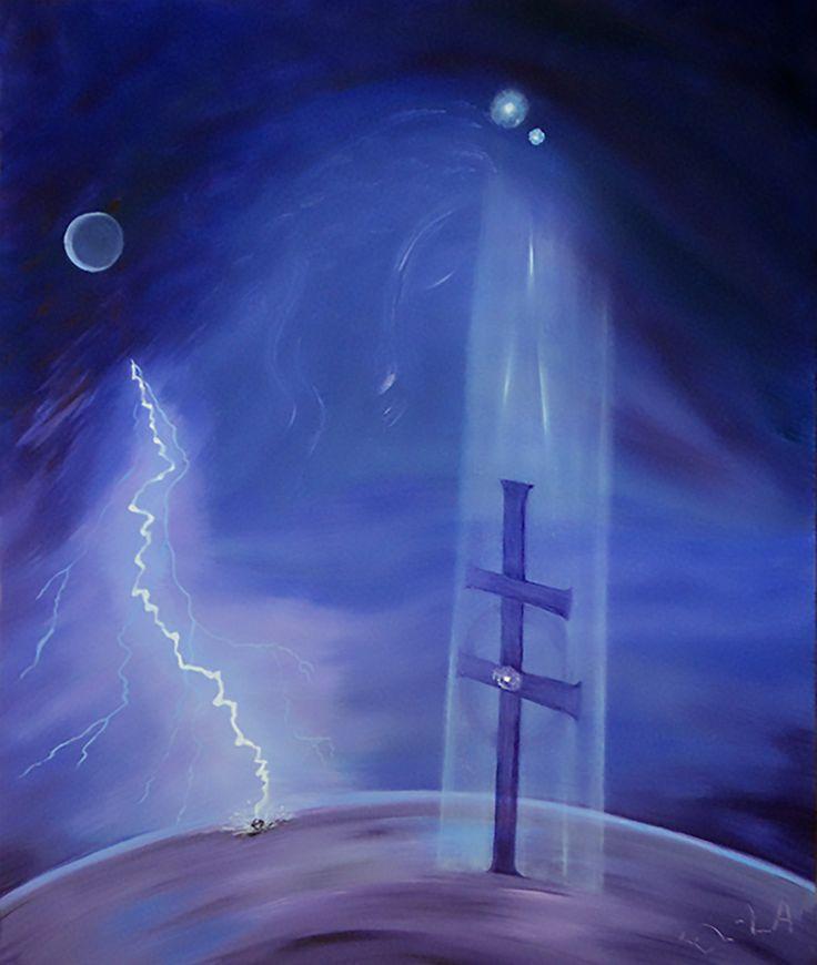 JEZUS küldetése, 50x60cm, olajfestmény, Budapest - MO -EU