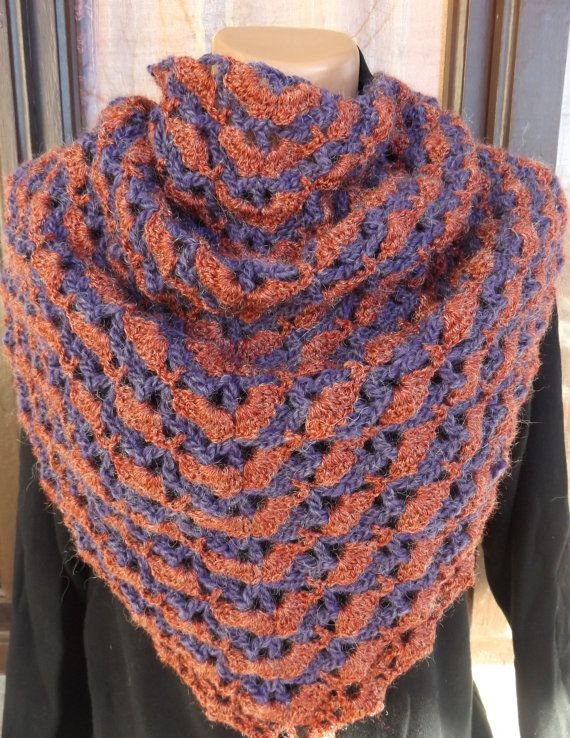 Crochet Neck Kerchief Gypsy Wool Scarf by CharmingBeautique