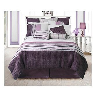 Eternity plum bedding collection by lawrence home fashions for Exclusive plum bedroom