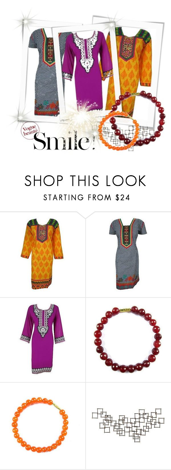 Ethnic Style by baydeals on Polyvore featuring Crate and Barrel, dress, summerstyle, blouse, tunic and kurti  http://stores.ebay.com/mogulgallery/DESIGNER-KURTI-/_i.html?_fsub=665889019&_sid=3781319&_trksid=p4634.c0.m322