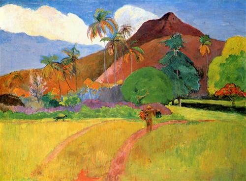 Tahitian mountains - Paul Gauguin. French polynesia