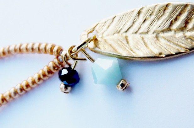 Halskette / Kette aus der You Are Amazing Kollektion mit Swarovski Steinen und Blatt nur bei www.thebungalow.ch