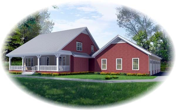 Country Farmhouse House Plan 46982 Elevation