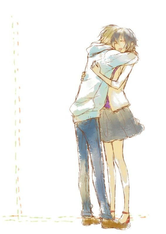 25 best ideas about anime couples hugging on pinterest - Anime boy hugging girl ...
