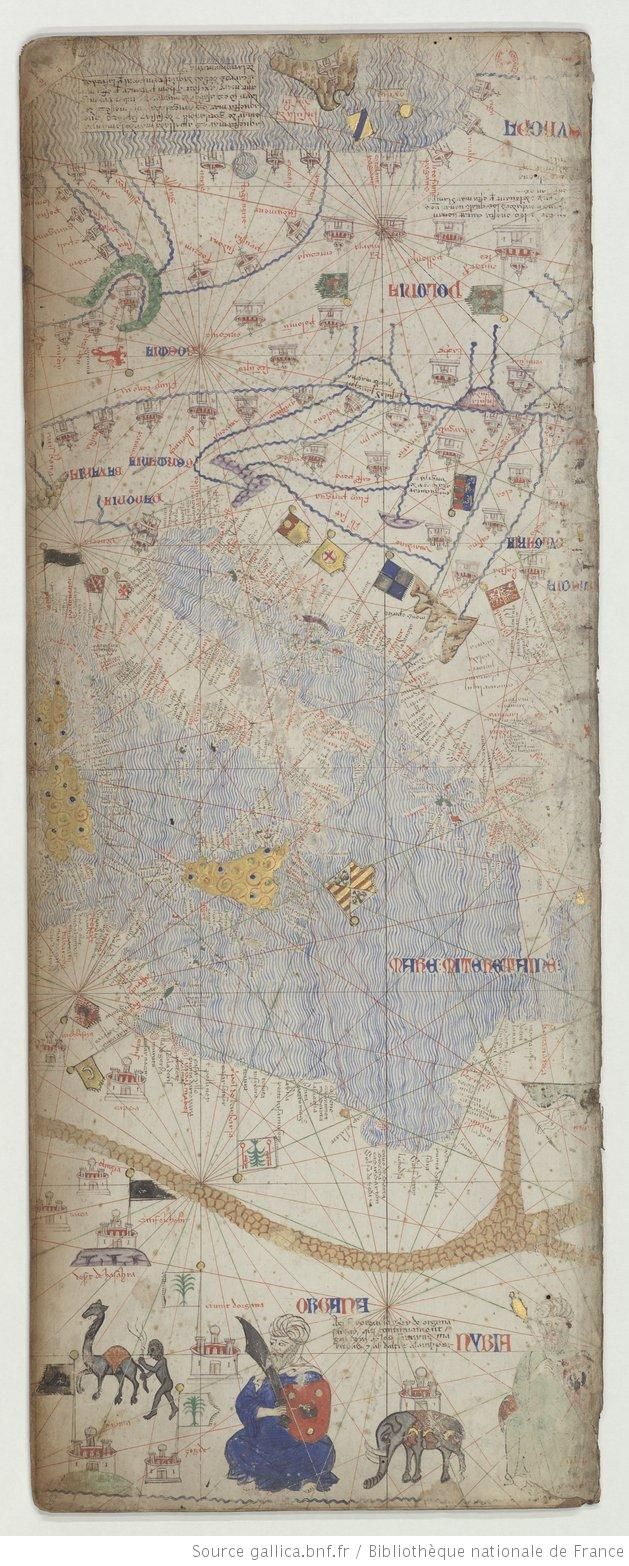 Italie, mer Méditerranée, Atlas catalan exécuté vers 1375 VILADESTES, Meciá 1301-1400