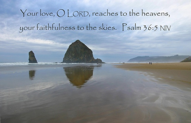 Psalm 36:5 niv, via Flickr.