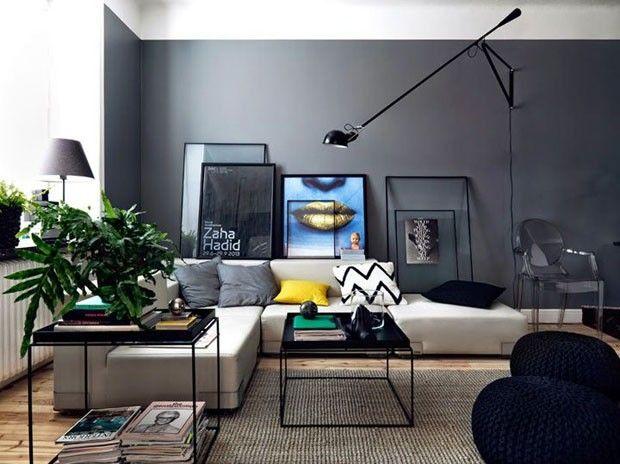 Décor do dia: estruturas finíssimas. Sala de estar atual e minimalista