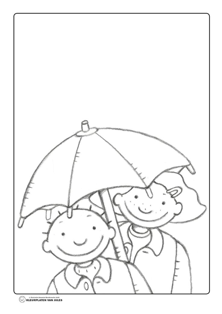 Jules en marie paraplu regen