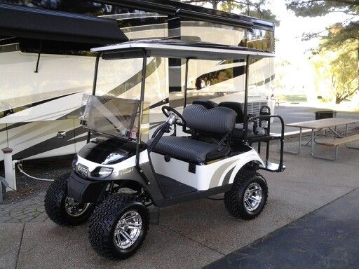 Most golf cart dealers claim to build custom carts, here is an excellent example of what a Custom Golf Cart is suppose to look like