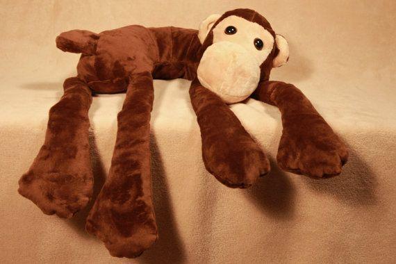 Monkey Pillow, Brown Body Pillow, Zoo