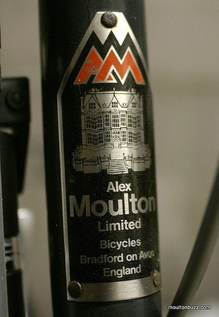 Alex Moulton AM 7 Head Badge by moultonbuzz, via Flickr