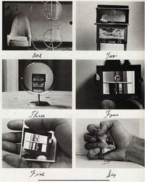 Duane Michals - Alice's Mirror 1974