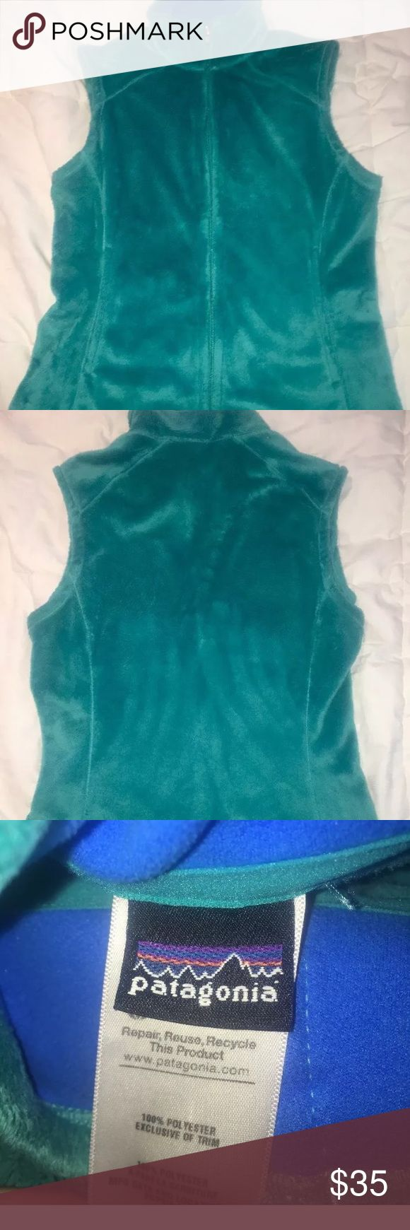 Sz s Patagonia furry soft fleece vest  Turquoise Excellent condition Sz small Patagonia furry soft fleece vest. Happy Turquoise/ teal color will make you smile every time you wear it! Patagonia Jackets & Coats Vests
