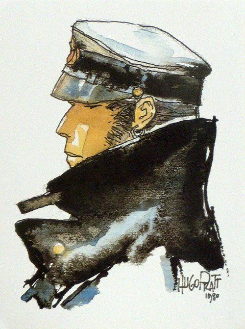 Hugo Pratt - Corto Maltese repinned by www.BlickeDeeler.de