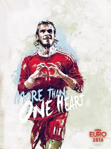 New party member! Tags: euro2016 euro 2016 espn euro wales bale more than football espn fc espnfc more than one heart