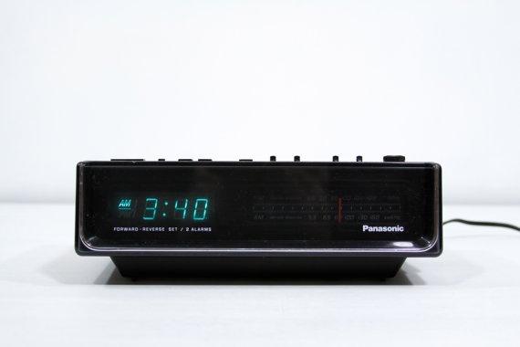 vintage alarm clock for the home pinterest digital clock radio digital clocks and alarm. Black Bedroom Furniture Sets. Home Design Ideas