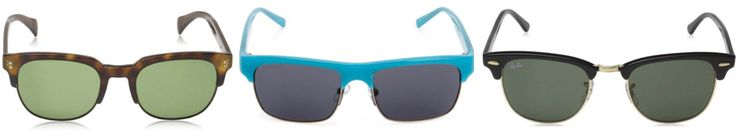 CLUBMASTER: La parte superior de las gafas se distingue por su montura gruesa que se sitúa siguiendo la línea de las cejas. La parte de debajo de las gafas de sol por el contrario, se diferencia por su montura fina y delgada.