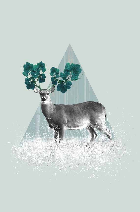 Deer Print, Wilderness, Woodland ❤ #NurseryDecor | #KidsTrends  #nurseryprints by #PrintsProject