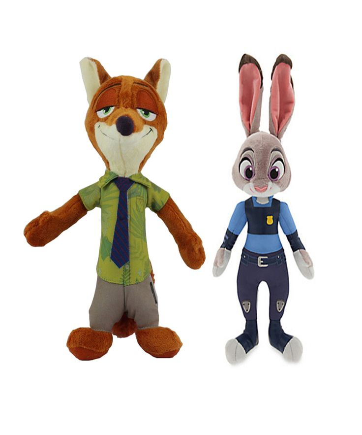28-30 cm High Quality Plush Dolls Rabbit Judy and Fox Nick Kids Stuffed TV & Movie Character Toys