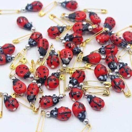 Ladybug-Safety-Pins-Red-Glass-Ladybug-Pins-New-Born-Girl-Safty-Pins-Ladybug