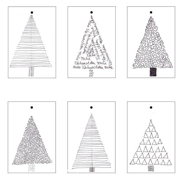 Geschenkanhänger drucken weihnachten