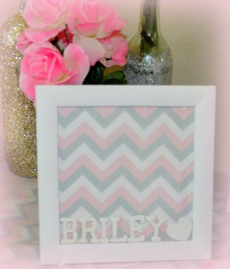 pink gray and white chevron baby shower my crafts pinterest
