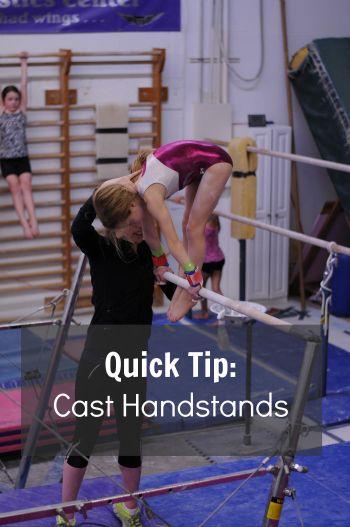 Quick tip cast handstands  How do we teach it  Bars