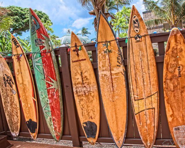 Surf boards at Aulani by Go Visit Hawaii, via Flickr