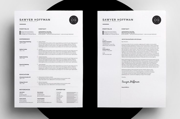 How To Create A Professional Resume/CV And Cover Letter Template. Easy to edit format available for Word, Photoshop and Indesign.
