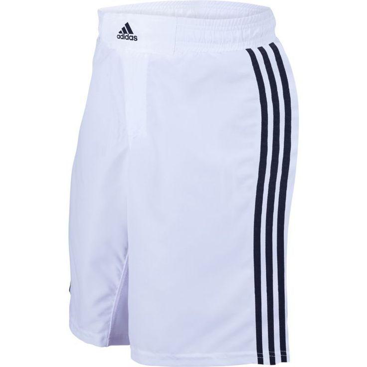 adidas Adult Wrestling Grappling Shorts, Size: Medium, White