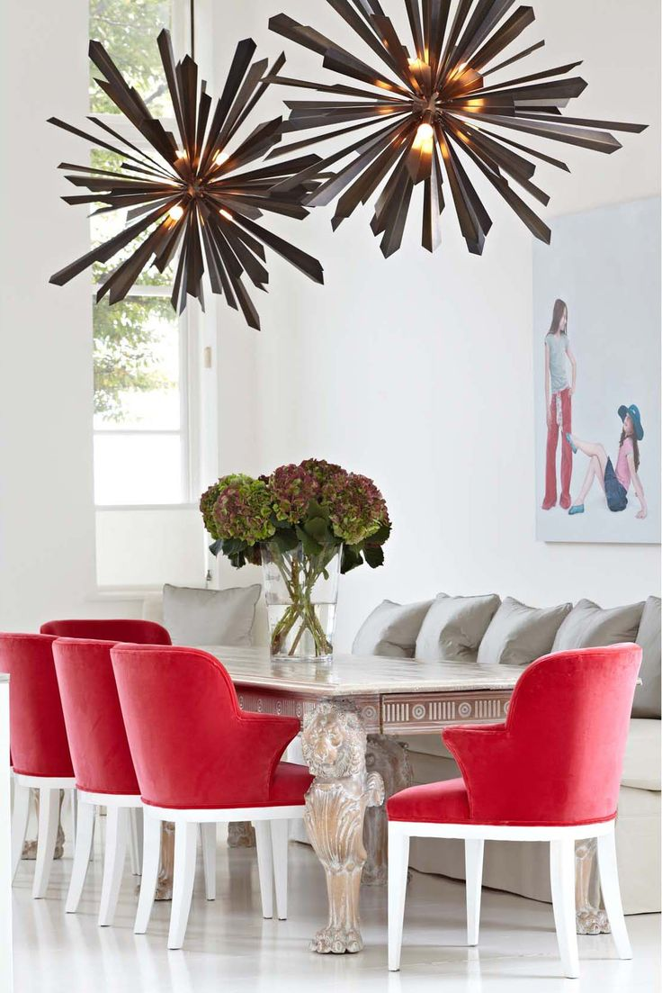 284 best ceiling lights images on pinterest ceiling lamps california sunburst chandeliers in a playful dining room by samantha todhunter design tonyduquette arubaitofo Images
