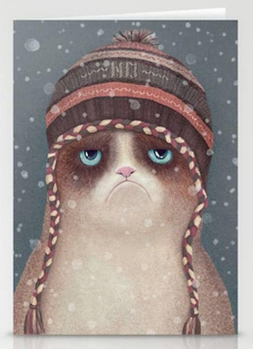 #grumpy #cat #snow