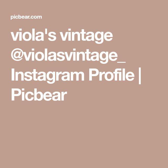 viola's vintage @violasvintage_ Instagram Profile | Picbear