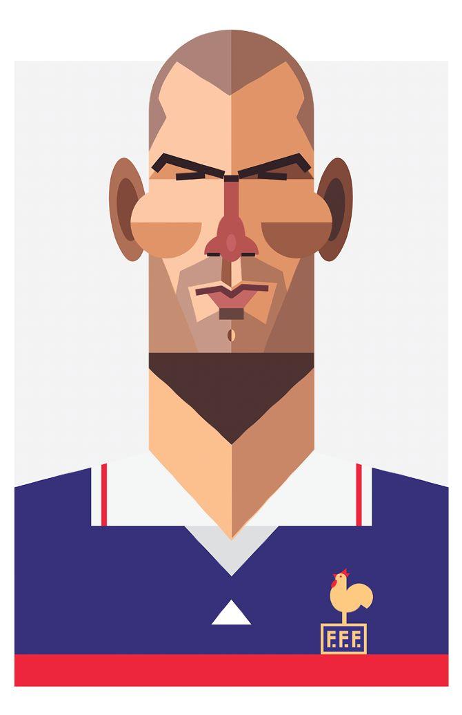 Zidane - Playmakers - Daniel Nyari Graphic Design & Illustration