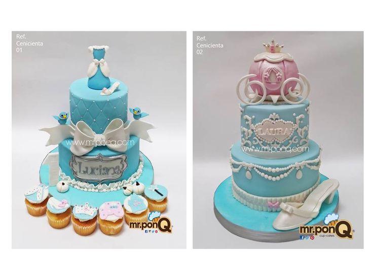 Tortas y cupcakes Cenicienta