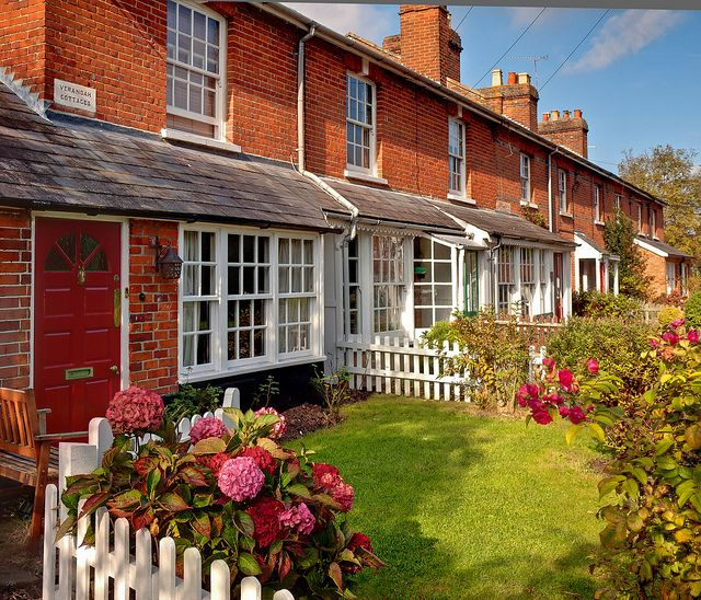 ysvoice: ♕ |  Verandah Cottages in Hartley Wintney, Hampshire  | (by © Anguskirk / Flickr) — FUCKITANDMOVETOBRITAIN