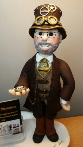 Steampunk character in polymer clay