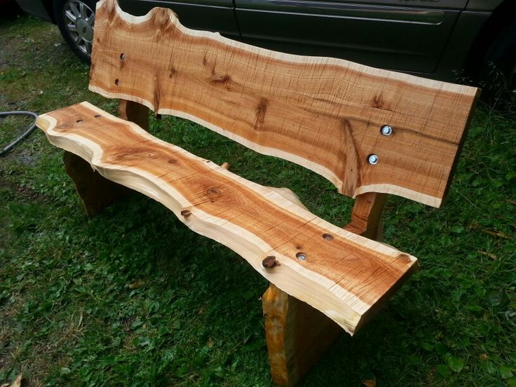 Another Live Edge Park Bench By John Mabry Exterior
