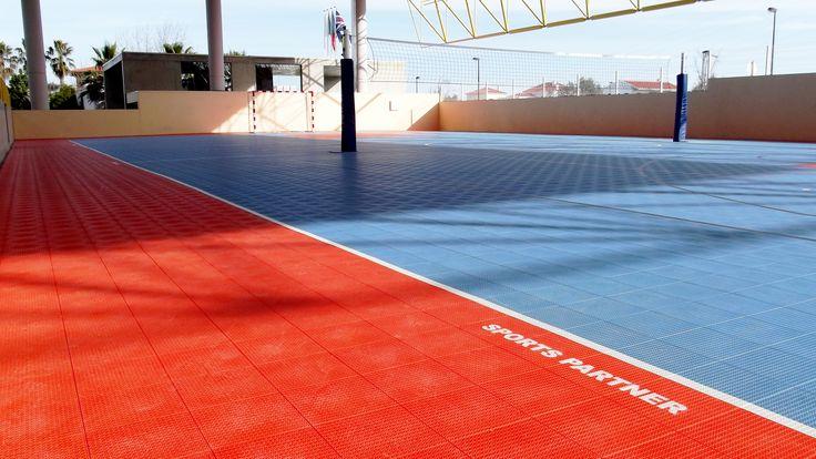 Obra Sports Partner em Palmela, com o Pavimento Desportivo Modular PATMOS e Equipamentos Desportivos