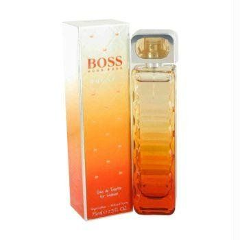 Hugo Boss Boss Orange Sunset Eau de Toilette Spray 2.5 oz by Hugo Boss. $44.99. Parfum Hugo Boss Parfum Homme Eau De Toilette Vaporisateur 75 Ml. Boss Orange Sunset by Hugo Boss was launched in 2010 for the vivacious and the flirty beauties. Embracing the beauty of the sunset and the dynamism of the citrus splurge this fragrance is for the zealous women. The advertising face of this attention-grabbing aroma is Sienna Miller. The top notes of the fragrance open to the ener...