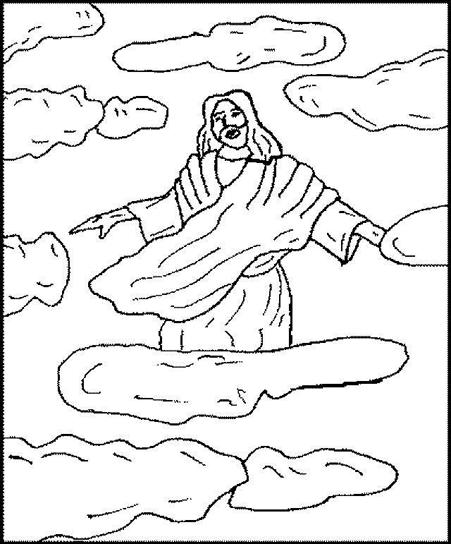 Ascension Of Jesus Christ Coloring Pages Ascension Of Jesus