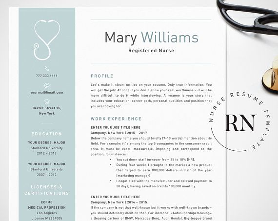 Nurse Resume Template For Word Medical Resume Word Nurse Cv