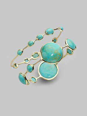 Ippolita - Turquoise & 18K Yellow Gold Bracelet - Saks.com