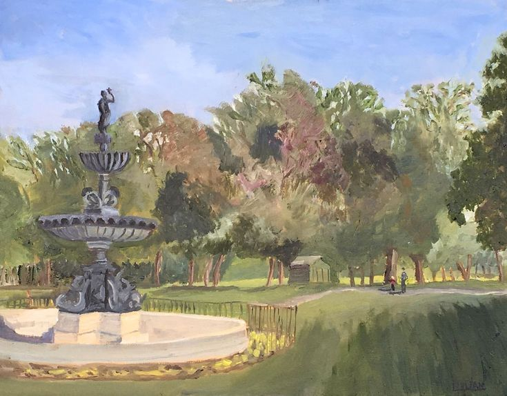 Buy A Walk in the Park - An original oil painting from my local park! Lovely Gift!, Oil painting by Julian Lovegrove Art on Artfinder. Discover thousands of other original paintings, prints, sculptures and photography from independent artists.