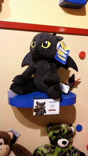 Yes that is a Build A Bear Toothless!!!!