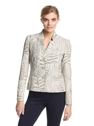 68% OFF Lafayette 148 New York Women's Menon Jacket (oyster multi)