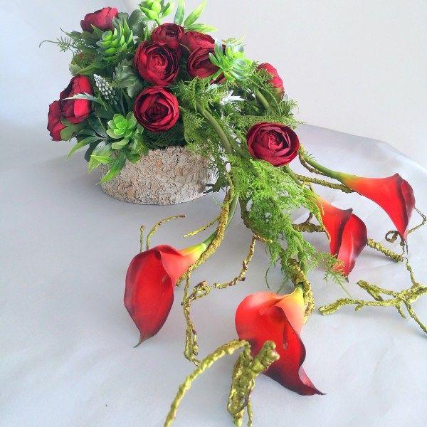 Nowoczesne Kompozycje Nagrobne Sztuczne Kwiaty Swiateczne Atelier Flower Arrangements Flower Decorations Flowers Perennials