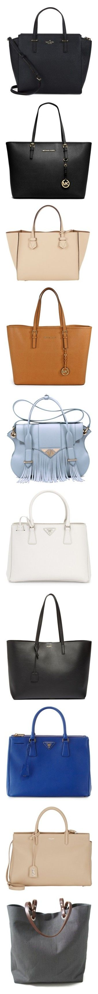 """""""PolyData: Top 10 Anti-Diaper Tote Bags"""" by polyvore ❤ liked on Polyvore featuring polydata, bags, handbags, tote bags, purses, bolsas, black, leather tote, kate spade tote bags and purse tote"""