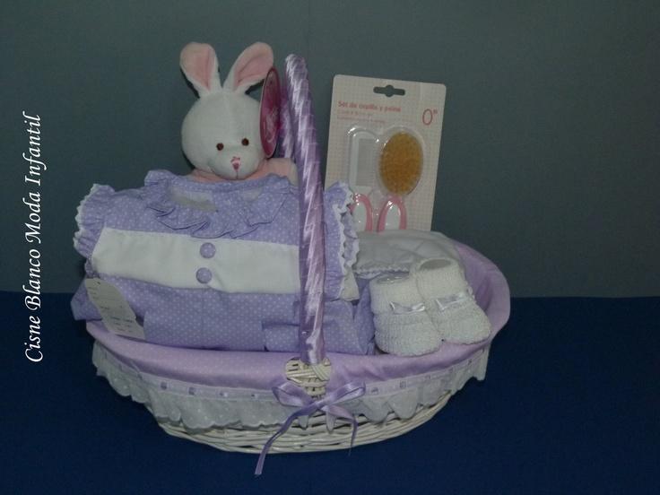 Canastilla artesanal 5 art. Ref. 005 - cisne blanco moda infantil